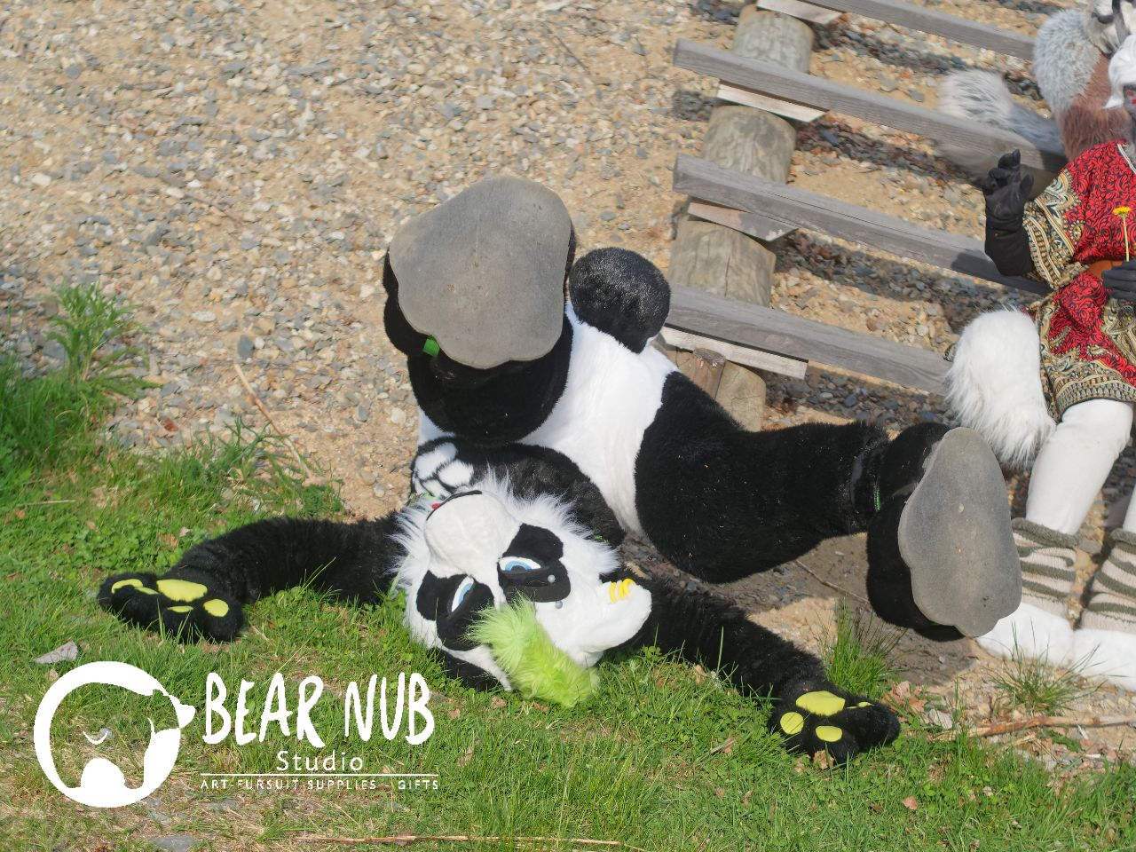 Fursuit Panda fursuit slippers